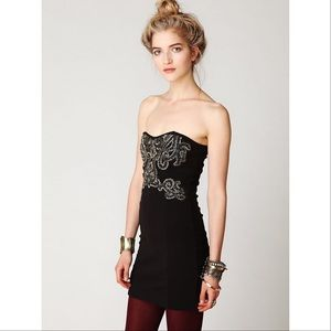 Free People Beaded Mini Dress Size M
